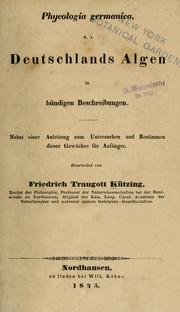 Cover of: Phycologia Germanica
