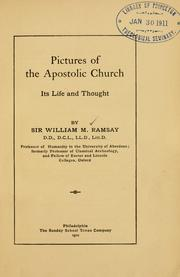 Cover of: Pictures of the apostolic church
