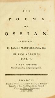 Cover of: poems of Ossian. | James Macpherson
