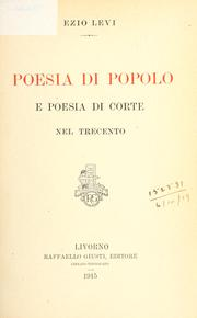 Cover of: Poesia di popolo