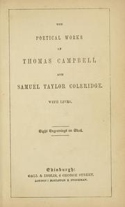 Cover of: poetical works of Thomas Campbell and Samuel Taylor Coleridge. | Thomas Campbell