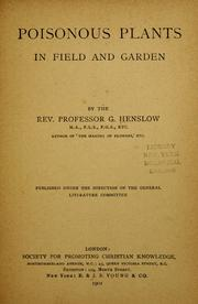 Cover of: Poisonous plants in field and garden