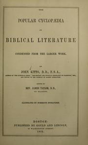 Cover of: Popular cyclopaedia of biblical literature