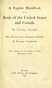 Cover of: A popular handbook of the ornithology of the United States and Canada: based on Nuttall's Manual