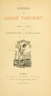 Cover of: Poésies de André Theuriet, 1860-1874