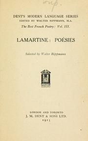 Cover of: Poésies: Selected by Walter Rippmann.