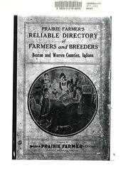 Cover of: Prairie Farmer's directory of Benton and Warren Counties, Indiana. by