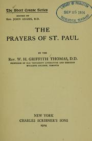 Cover of: The prayers of St. Paul