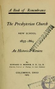 Cover of: The Presbyterian Church, New School, 1837-1869