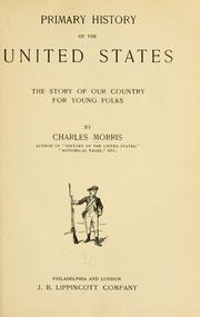 Cover of: Primary history of the United States: the story of our country for young folks