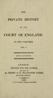 Cover of: private history of the court of England. | Sarah Green