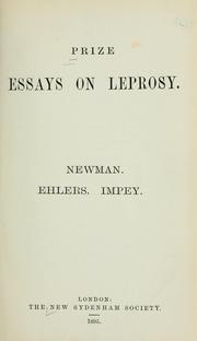 Cover of: Prize essays on leprosy
