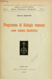 Cover of: Programma di filologia romanza come scienza idealistica