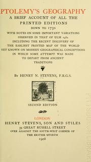 Ptolemy's geography by Henry Newton Stevens