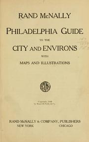 Cover of: Rand McNally Philadelphia guide to the city and environs by