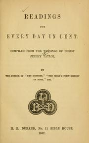 Cover of: Readings for every day in Lent