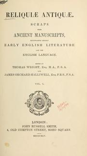 Cover of: Reliquiae antiquae