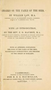 Cover of: Remarks on The fable of the bees