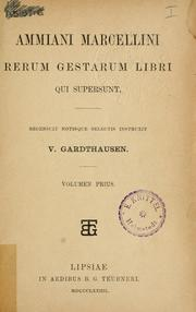 Cover of: Rerum gestarum libri qui supersunt