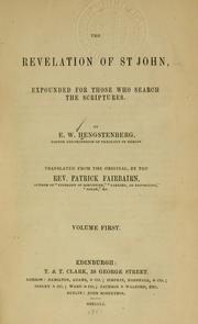 Cover of: Revelation of St. John | Ernst Wilhelm Hengstenburg
