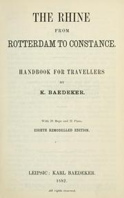 Cover of: The Rhine from Rotterdam to Constance by Karl Baedeker (Firm)