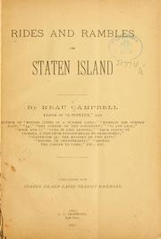 Cover of: Rides and rambles on Staten island by Reau Campbell