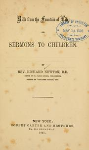 Cover of: Rills from the fountain of life, or, Sermons to children