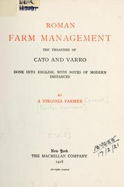 Cover of: Roman farm management by Harrison, Fairfax