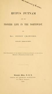 Cover of: Rufus Putnam and his pioneer life in the Northwest. | Sidney Crawford