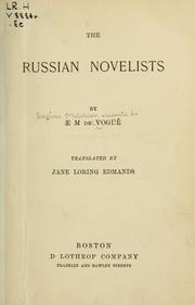 Cover of: The Russian novelists