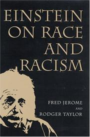 Cover of: Einstein on race and racism by