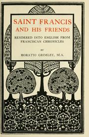 Cover of: Saint Francis and his friends
