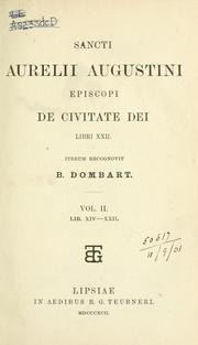 Cover of: De civitate Dei
