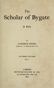 Cover of: The scholar of Bygate