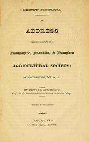 Cover of: Scientific agriculture