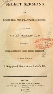 Cover of: Select sermons on doctrinal and practical subjects