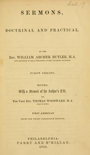 Cover of: Sermons, doctrinal and practical | William Archer Butler