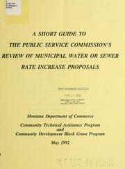 Cover of: A Short guide to the Public Service Commission