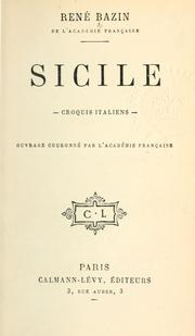 Cover of: Sicile