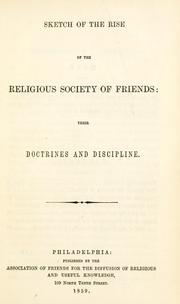 Cover of: Sketch of the rise of the Religious Society of Friends |