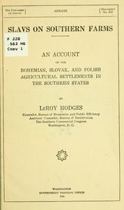 Cover of: Slavs on southern farms. | Hodges, LeRoy