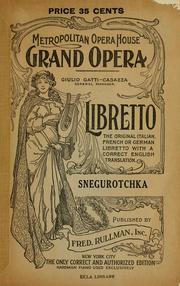 Cover of: Snegurochka