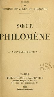 Cover of: Soeur Philomène