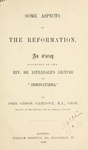 Cover of: Some aspects of the Reformation