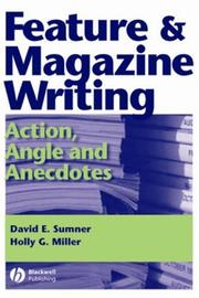 Cover of: Feature and magazine writing