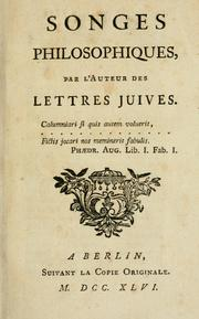 Cover of: Songes philosophiques