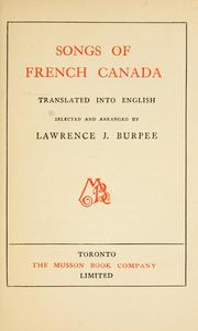 Cover of: Songs of French Canada