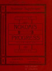 Cover of: Souvenir supplement of the Nokomis progress | Nokomis progress, Nokomis, Ill