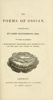 Cover of: The poems of Ossian by James Macpherson