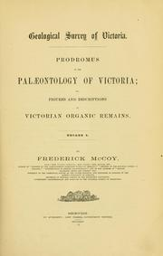Cover of: Prodromus of the paleontology of Victoria | Geological Survey of Victoria.